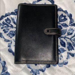 Coach Black Leather Passport Holder